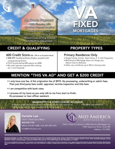 VA Mortgage Flyer
